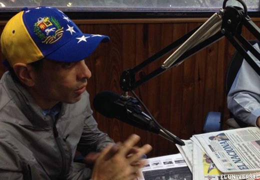 """We need to be organized to speak up,"" Capriles noted (Handout photo: @CaprilesPuntoTV)"