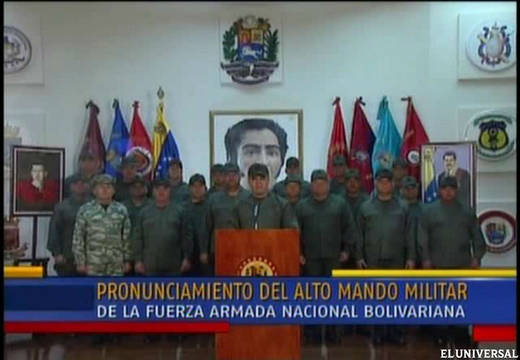 Venezuela's Bolivarian National Armed Forces (FANB) condemned a plan to overthrow President Maduro (TV screen capture)