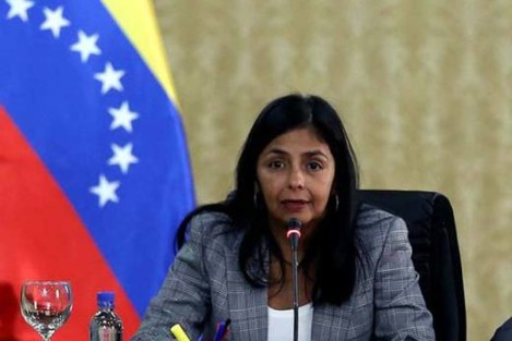 Minister of Foreign Affairs Delcy Rodríguez rejected the statements made by US State Department spokesperson John Kirby (Handout photo)