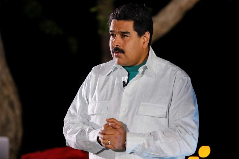 "Venezuela's President Nicolas Maduro speaks during his weekly broadcast ""en contacto con Maduro"" (In contact with Maduro), in Margarita IslandThomson Reuters"