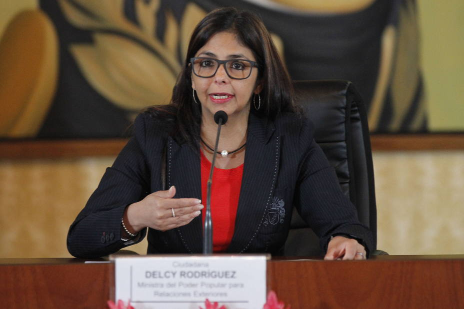 "Venezuelan Minister of Foreign Affairs Delcy Rodríguez claimed the South American nation is ""free and sovereign"""