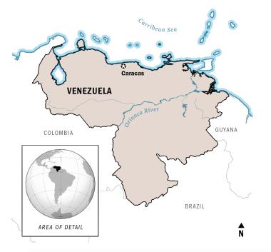 venezuela-caracas-map