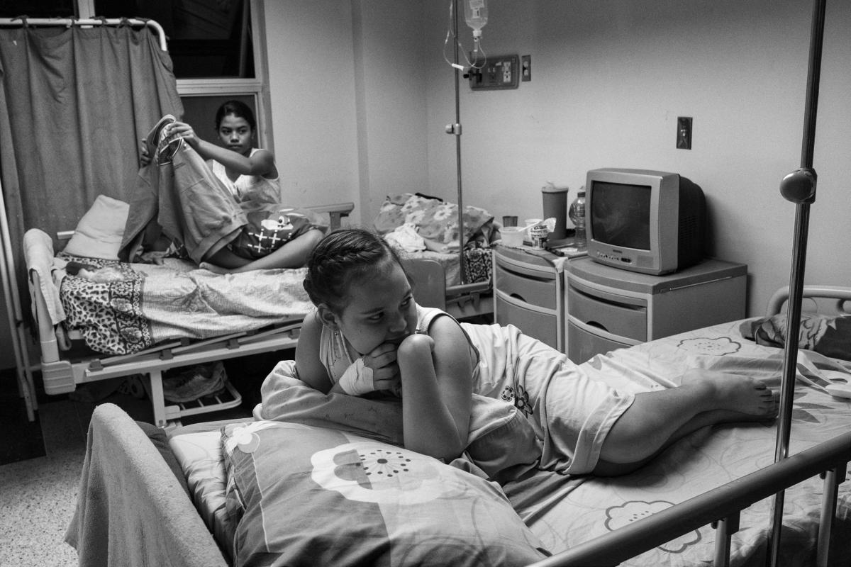 At the children's hospital, J.M. de los Rios, in Caracas, Venezuela, shortages of food and medicine have meant that patients are not receiving essential care, June 2016.