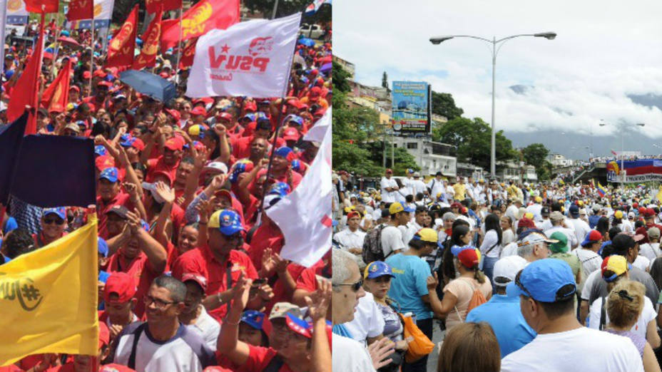 On Thursday, the demonstrations convened by government supporters and dissenters in the Venezuelan capital city showed that Venezuelans want to overcome peacefully the crisis facing the country
